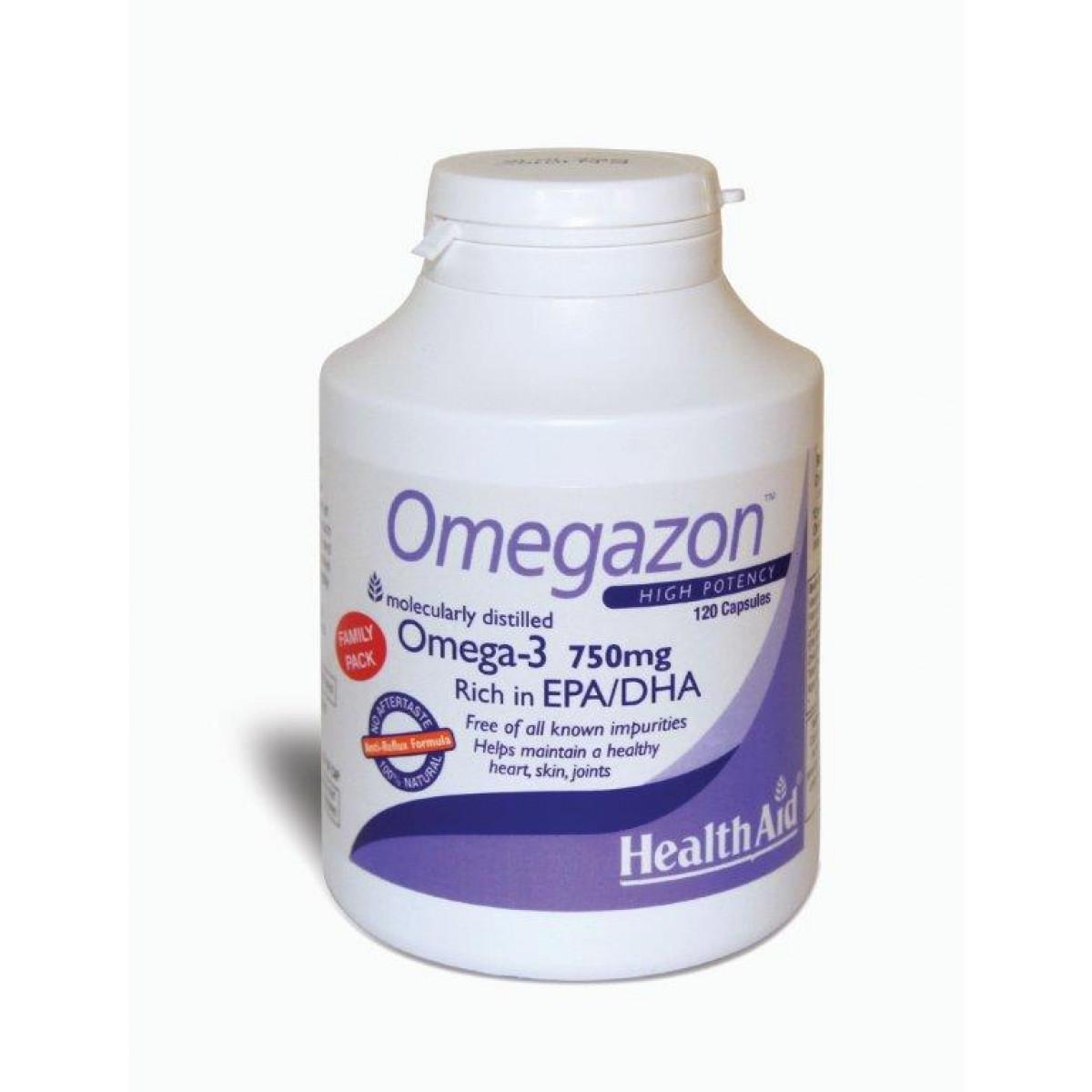 Health Aid High Potency Omegazon 750mg 120Caps Doctor Pharmacy