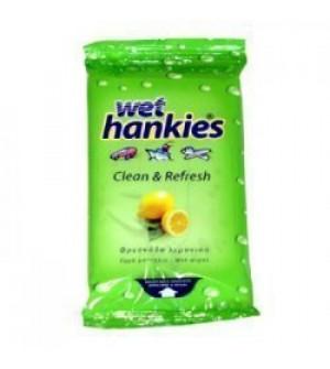 Hankies Antibacterial Lemon Αλκοολούχα Αντιβακτηριδιακά Μαντήλια 15 τεμ.