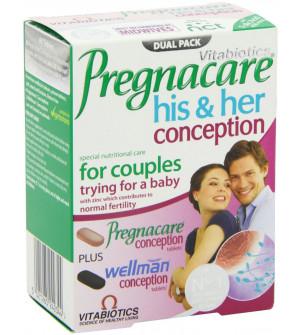 Vitabiotics Pregnacare His & Her Conception 60Caps