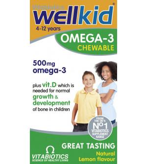 Vitabiotics Wellkid Omega 3 Chewable 60Chewable Caps