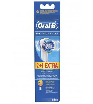 Oral-B Precision Clean Ανταλακτικά Ηλεκτρικής Οδοντόβουρτσας 2+1 Extra