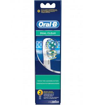 Oral-B Dual Clean 2 Ανταλακτικά Ηλεκτρικής Οδοντόβουρτσας