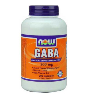 Now GABA 500mg + Vitamin B6 100 caps