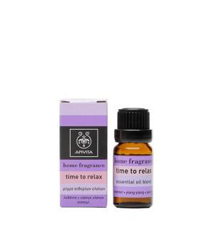 Apivita Home Fragrance Time to Relax Μίγμα Αιθέριων Έλαιων 10ml