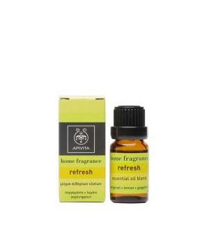 Apivita Home Fragrance Refresh Μίγμα Αιθέριων Έλαιων 10ml