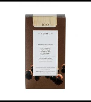 Korres Argan Oil Advanced Colorant N10.0 Ξανθο Πλατινας Φυσικο Promo 50ml