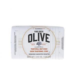 Korres Pure Greek Olive Πράσινο Σαπούνι Με Κέδρο 125g