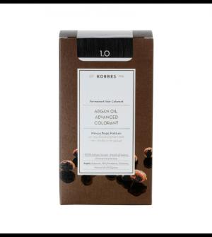 Korres Argan Oil Advanced Colorant N1.0 Μαυρο Φυσικο Promo 50ml