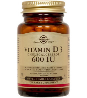 Solgar Vitamin D3 600Iu 15mg 60Caps