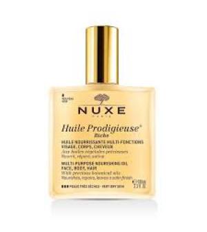 Nuxe Huile Prodigieuse Rich Ξηρό λάδι για πρόσωπο-σώμα-μαλλιά 100ml