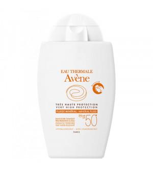 Avene Fluide Mineral SPF50+ Αντιηλιακό Προσώπου για το ευαίσθητο  μη ανεκτικό δέρμα 40ml