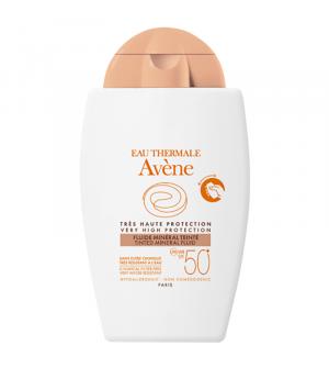 Avene Fluide Mineral SPF50+ Αντιηλιακό Προσώπου για το ευαίσθητο  μη ανεκτικό δέρμα με χρώμα 40ml