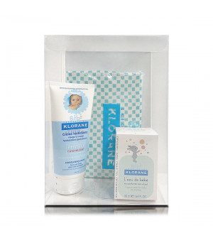 Klorane Bebe Moisturizing Cream Ενυδατική Κρέμα για Πρόσωπο & Σώμα 200ml + L' Eau de Bebe Βρεφικό Άρωμα 50ml. Πακέτο βρεφικής περιποίησης σε προνομιακή τιμή και δώρο νεσεσέρ.