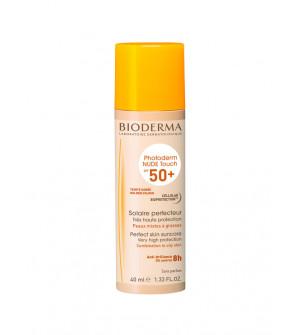 Bioderma Photoderm Nude Touch SPF50+  Αντηλιακή Προσώπου με Golden απόχρωση 40ml
