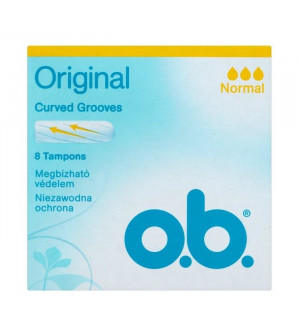 OB Ταμπόν Original Curved Grooves Normal 8 Tampons