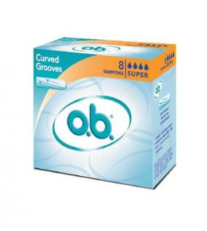 o.b ταμπόν Curved Grooves, Super. 8τεμ