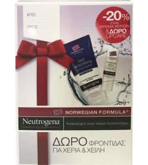 Neutrogena Κρέμα Χεριών Άμεσης Απορρόφησης 75ml + Δώρο Stick Χειλιών Θρέψης Με Nordic Berry 4.9g
