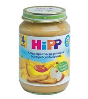 Hipp Φρουτοκρεμα Με Μηλο Μπανανα Μπισκοτο 190g