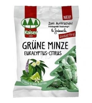 Kaiser Grune Minze Eukalyptus Citrus Καραμέλες για το Βήχα με Δυόσμο, Ευκάλυπτο & Lime 60g