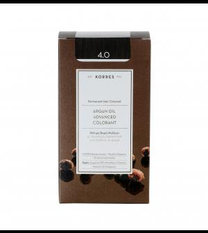 Korres Argan Oil Advanced Colorant N4.0 Καστανο Φυσικο Promo 50ml