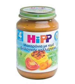 Hipp Γευμα Μακαρονια με Κιμα Φρεσκια Τοματα 190g