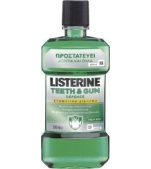 Johnson's Listerine  Teeth&Gum Defence Ήπιο Αντισηπτικό Στοματικό Διάλυμα κατά της πλάκας και της κακοσμίας 500ml
