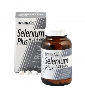 Health Aid Selenium Plus A,C,E & Zing 200mg Antioxidant Combination 60Tabs