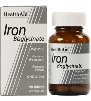 Health Aid Iron Bisglycinate 90 Tablets