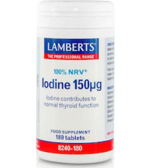 Lamberts Iodine 150μg Συμπλήρωμα με Ιώδιο, 180tabs