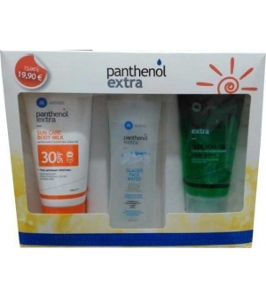 Medisei Panthenol Extra Sun Body Milk Spf30 150ml & Glacier Face Water 250ml & Aloe Vera Gel 150ml