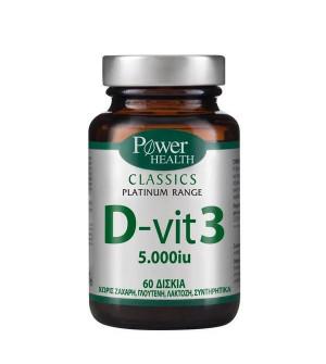 Power Health Classics Platinum Range D-Vit 3 5000iu 60tabs