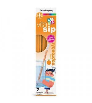 Power Health VitaSip Πολυβιταμίνες με γεύση Πορτοκάλι σε καλαμάκι για παιδιά 7τμχ