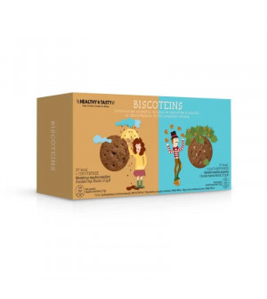 Power Health Biscoteins 75gr Μπισκότα με Κομμάτια Σοκολάτας & Σοκολάτα Φουντούκι