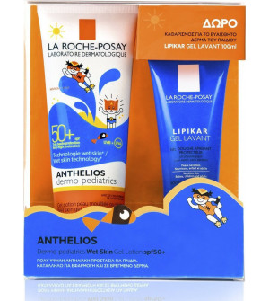 La Roche Posay Anthelios Dermo-Pediatrics Wet Skin Gel Lotion SPF50+ Παιδικό Αντηλιακό για Πρόσωπο/Σώμα 250ml + Δώρο Lipikar Gel Lavant 100ml