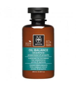 Apivita Oil Balance Σαμπουάν Με Μέντα & Πρόπολη 250ml