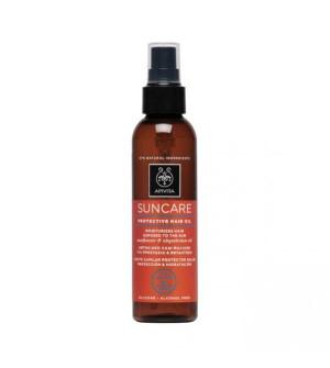 Apivita Suncare αντιηλιακό λάδι μαλλιών για προστασία & ενυδάτωση με λάδι ηλίανθου & αβυσσινίας 150ml