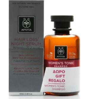 Apivita Promo Hair Loss Night Serum Ορός Νύχτας κατά της Τριχόπτωσης 150ml & ΔΩΡΟ Τονωτικό Σαμπουάν για Γυναίκες 250ml