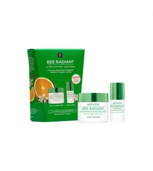 Apivita Bee Radiant Κρέμα Ελαφριάς Υφής 50ml + Δώρο Κρέμα Ματιών 15ml