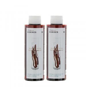 Korres Σαμπουάν με Γλυκύρριζα & Τσουκνίδα για Λιπαρά Μαλλιά 250ml & Δώρο 250ml