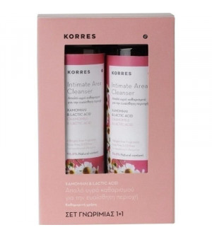 Korres Υγρό για την Ευαίσθητη Περιοχή με Χαμομήλι - Γαλακτικό Οξύ 250ml 1+1 δώρο