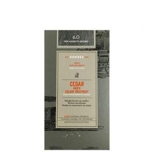 Korres Cedar Βαφή Μαλλιών Ανδρική για Κάλυψη Λευκών & Γκρίζων 6.0 Γκρι Ανοιχτό Φυσικό 60ml