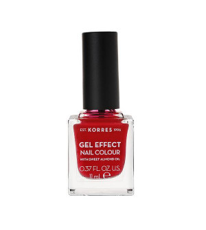 Korres Gel Effect Βερνίκι Νυχιών Rosy Red No51 11ml