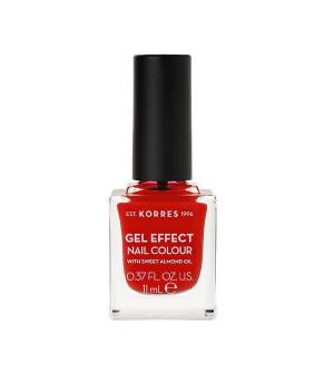Korres Gel Effect Βερνίκι Νυχιών Coral Red No48 11ml