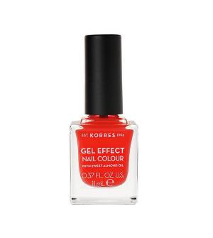 Korres Gel Effect Βερνίκι Νυχιών Coral No45 11ml
