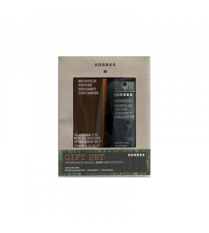 Korres After Shave Mountain Pepper/Bergamot/Coriander 125ml & Δώρο Αφρόλουτρο Mountain Pepper/Bergamot/Coriander 250ml
