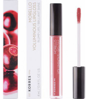Korres Morello Voluminous Lipgloss Plump Lips No16 Blushed Pink 4ml