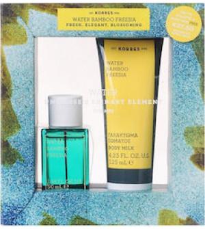 Korres Gift Set Eau De Toilette Water Bamboo & Freesia 50ml & Body Milk Water Bamboo & Freesia 125ml
