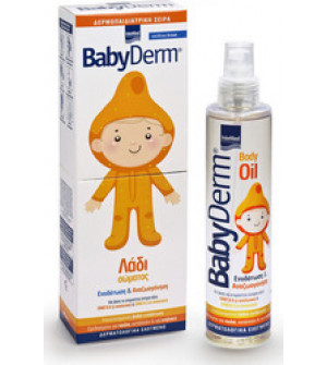 Intermed Babyderm Body oil λάδι σώματος για βαθιά ενυδάτωση 200ml