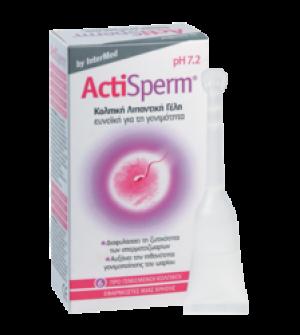 Intermed Actisperm, Κολπική Γέλη για Αύξηση Πιθανότητας Σύλληψης, 6 tubes x 5ml