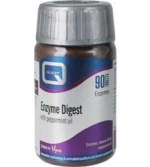 Quest Enzyme Digest 90 Ταμπλέτες  Το συμπλήρωμα διατροφής Enzyme Digest της Quest σχεδιάστηκε για όσους εμφανίζουν μειωμένη φυσική έκκριση πεπτικών ενζύμων.